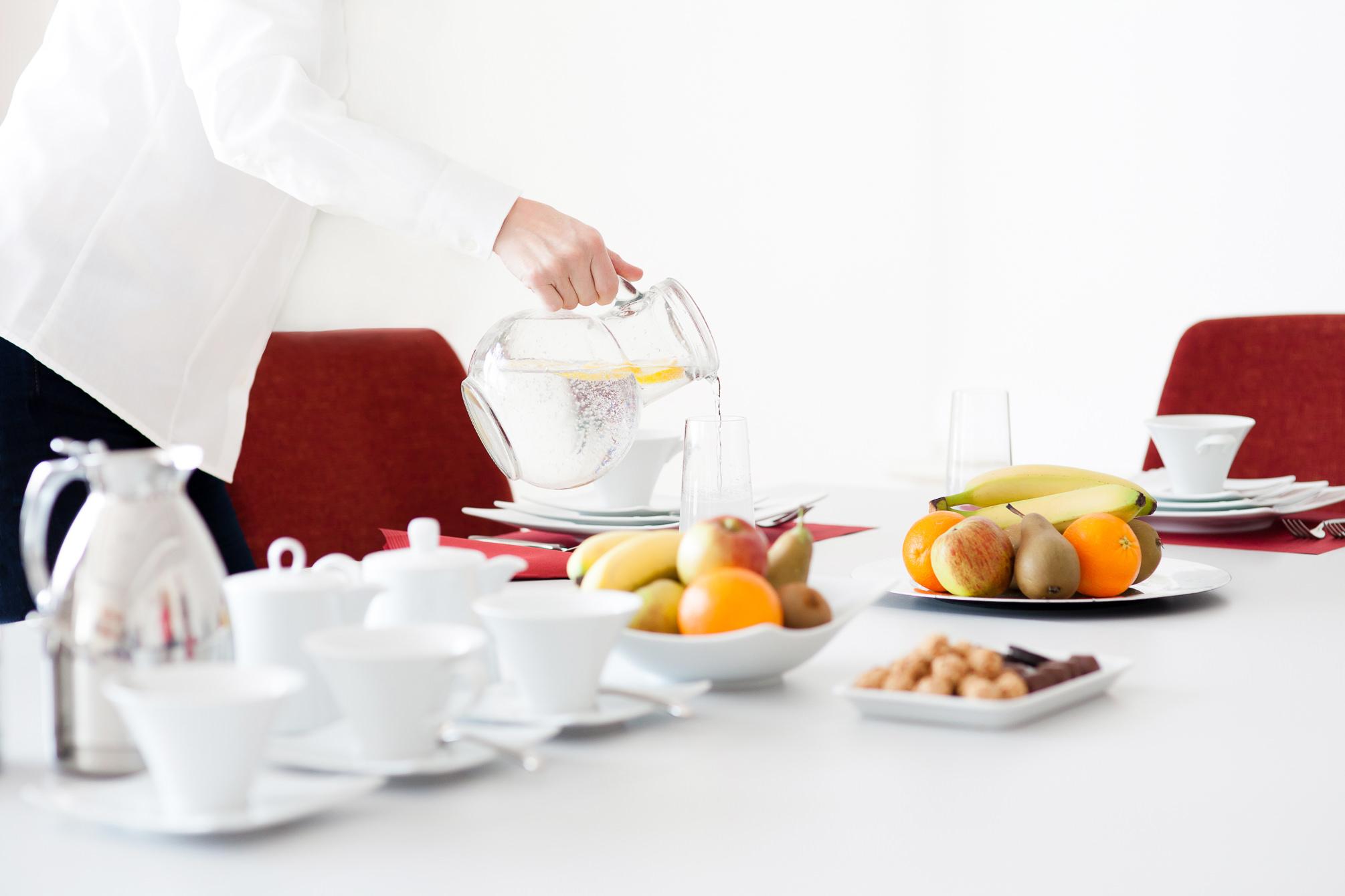 Catering, Food, Foodfotografie, Foodfoto, Konferenzservice, Konferenzgedeck, Obst, Kaffee, Claudia Zurlo Photography